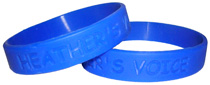 Heather's Voice wristbands